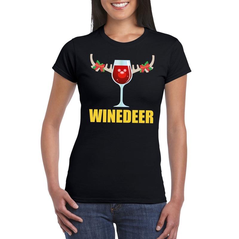 foute-kerst-t-shirt-winedeer-zwart-voor-dames