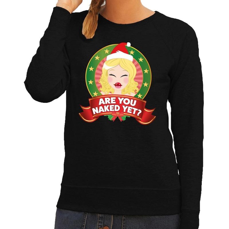 Foute Kersttrui Volwassenen.Maffe Truien Nl Foute Kersttrui Zwart Are You Naked Yet Voor Dames