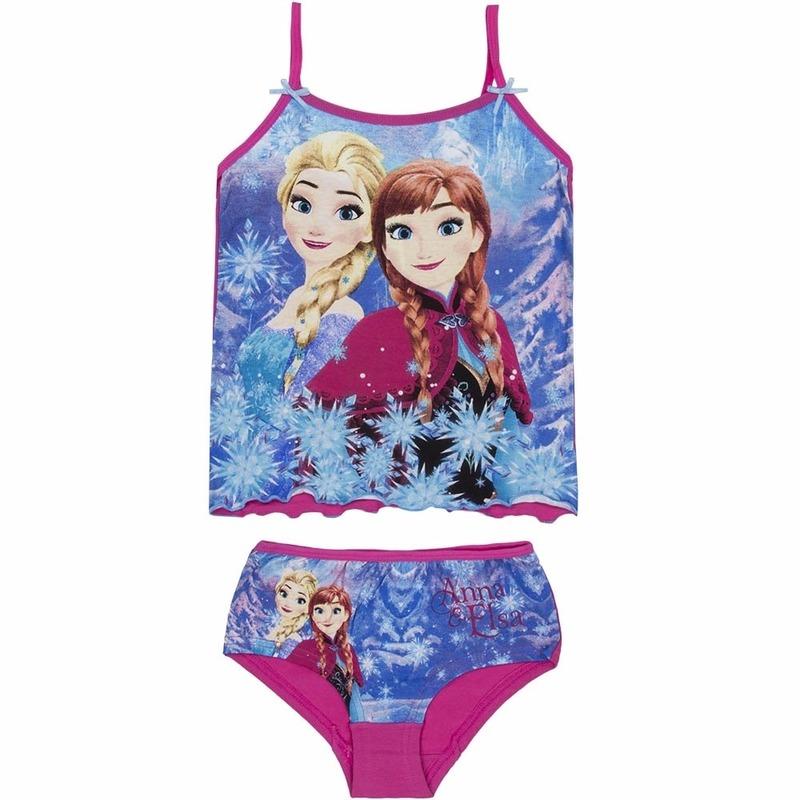 Ondergoed en Lingerie Disney Frozen meisjes ondergoed set roze