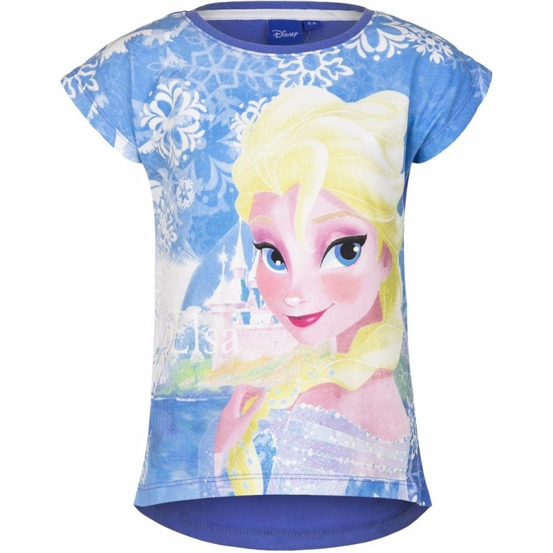 T shirts en poloshirts Disney Frozen t shirt blauw voor meisjes