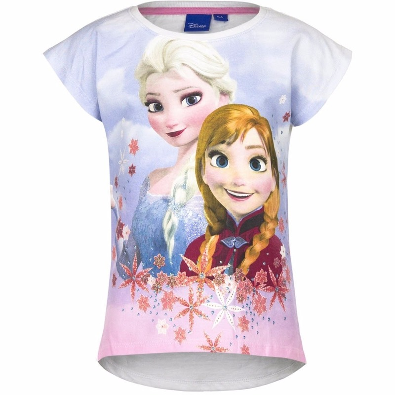 Frozen t shirt wit voor meisjes Disney T shirts en poloshirts