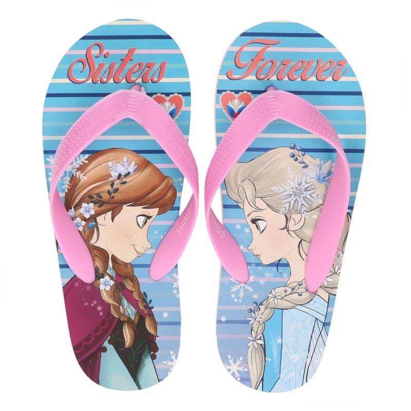Schoenen en laarzen Disney Frozen teenslippers Anna en Elsa Sisters Forever voor meisjes