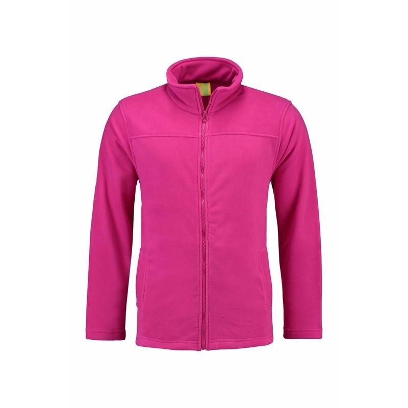 L S Fuchsia fleece vest met rits voor dames Truien en sweaters