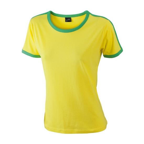 T shirts en poloshirts Geel met groen dames t shirt