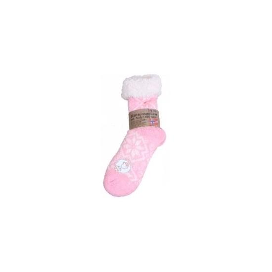 Sokken en Panty's Gevoerde anti slip huissokken roze