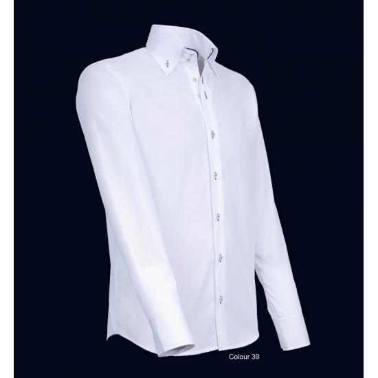 Overhemden Giovanni Capraro Giovanni Capraro overhemd wit