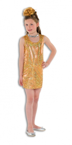 3ef4d76c92886e Gouden glitter jurk voor meisjes - Bling Bling jurkjes - Bellatio ...