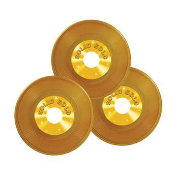 Gouden LPs decoratie 3 stuks