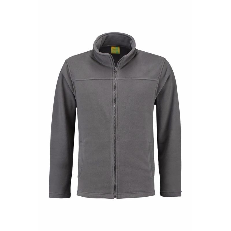 Truien en sweaters L S Grijs fleece vest met rits voor volwassenen