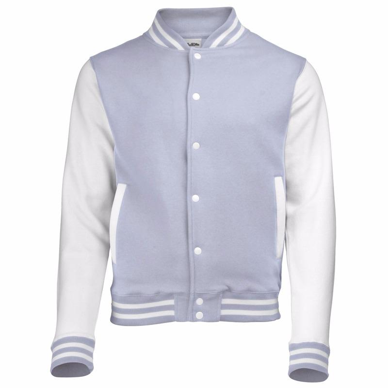 Jassen en bodywarmers AWDis Grijs met wit college jacket voor dames