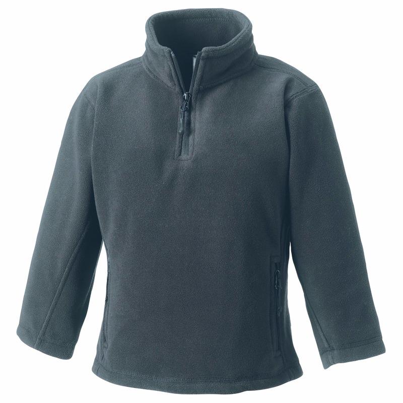 Grijze fleece trui voor meisjes Fruit Of The Loom gaafste producten