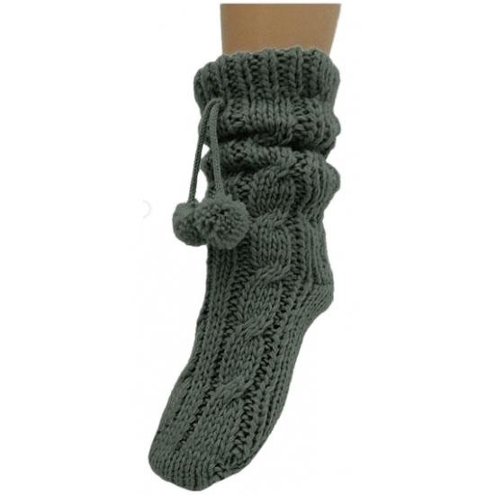 Sokken en Panty's Bellatio Grijze huissokken voor dames