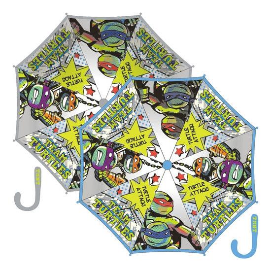 Grijze paraplu Ninja Turtles 80 cm Ninja Turtles Hoge kwaliteit