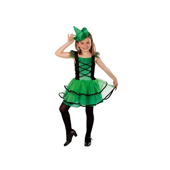 Groen heksenjurkje voor meisjes