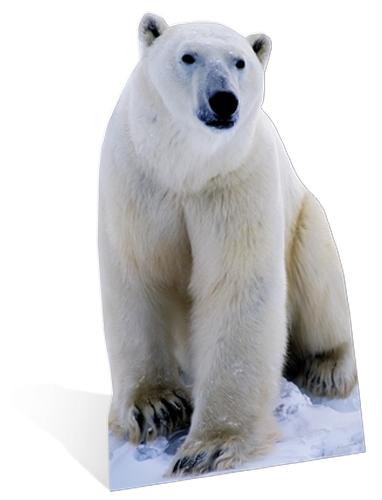 Groot decoratiebord ijsbeer 176 cm