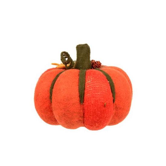 Grote decoratie pompoen oranje 20 cm
