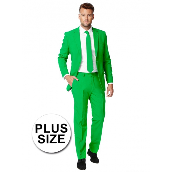 Grote maten heren kostuum groen