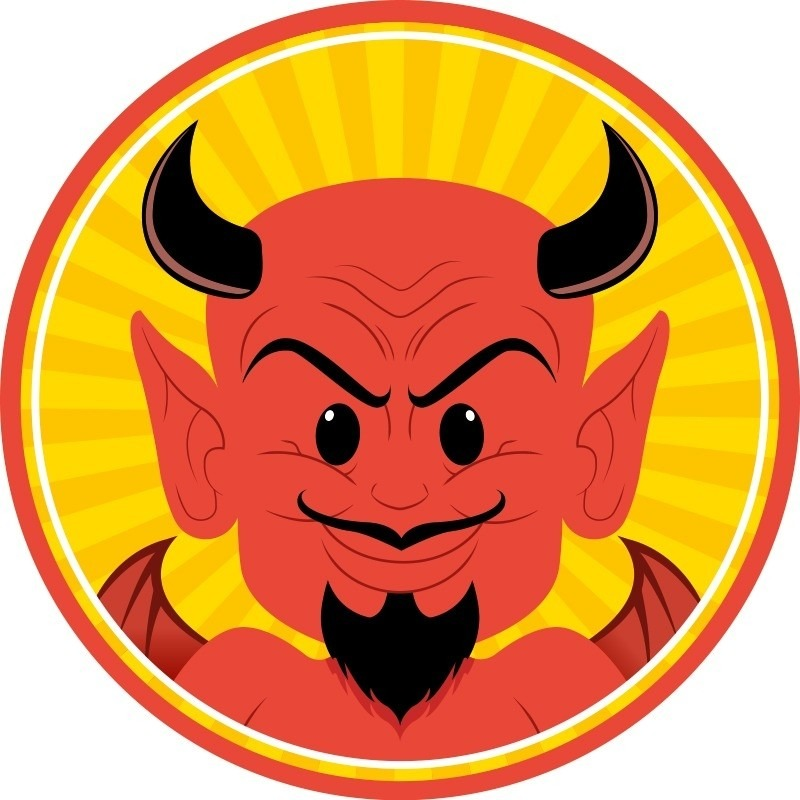 Halloween - 10x Halloween onderzetters duivel
