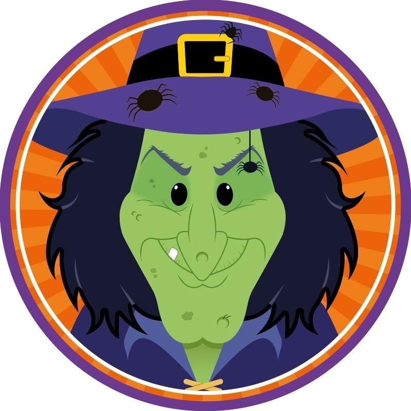 Halloween - 10x Halloween onderzetters heks