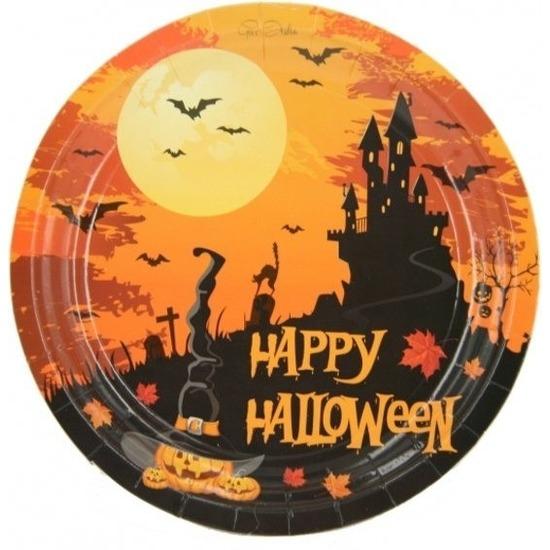 Halloween - 10x Happy Halloween bordjes