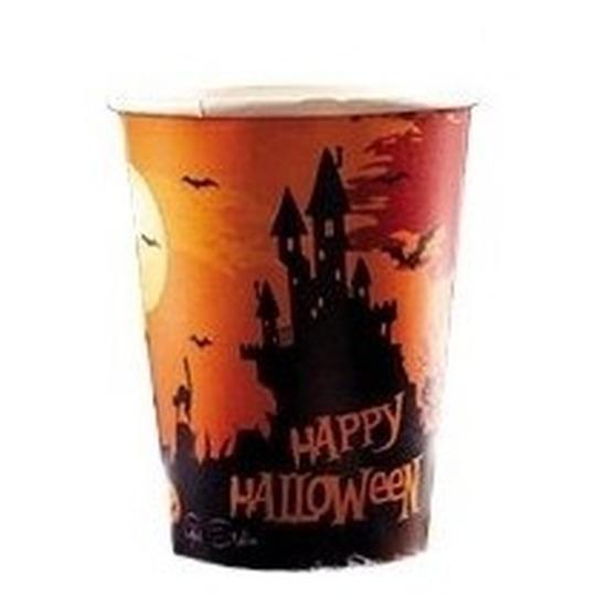 Halloween - 10x Happy Halloween pompoen bekers