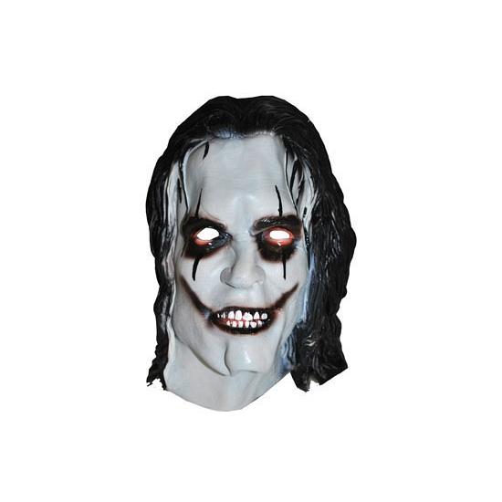 Halloween clowns masker met zwart haar