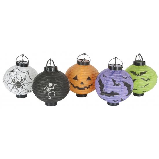 Halloween decoratie lampionnen setje 10 stuks