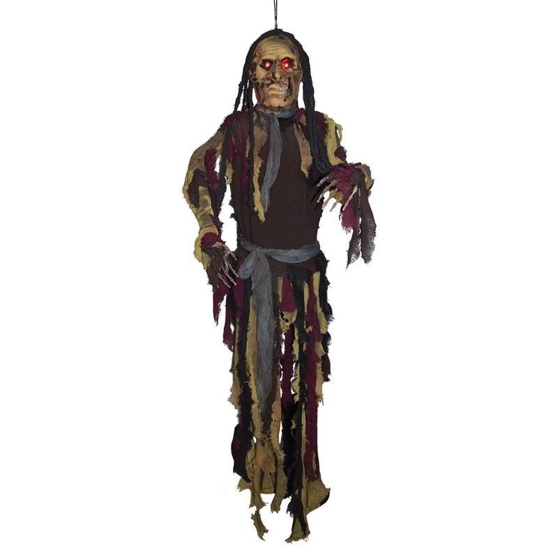 Halloween - Decoratie spook met licht 160 cm halloween versiering
