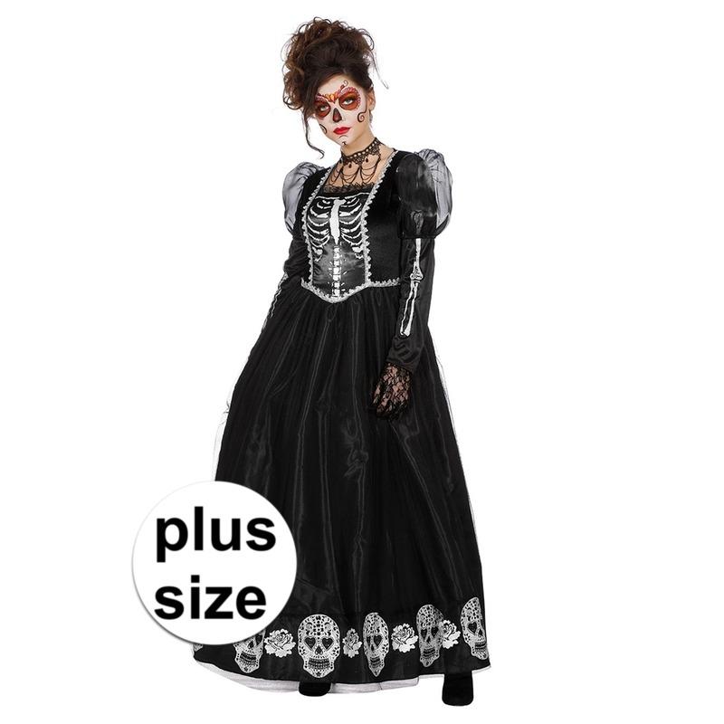 Halloween - Grote maat Day of the Dead halloween gothic jurk voor dames