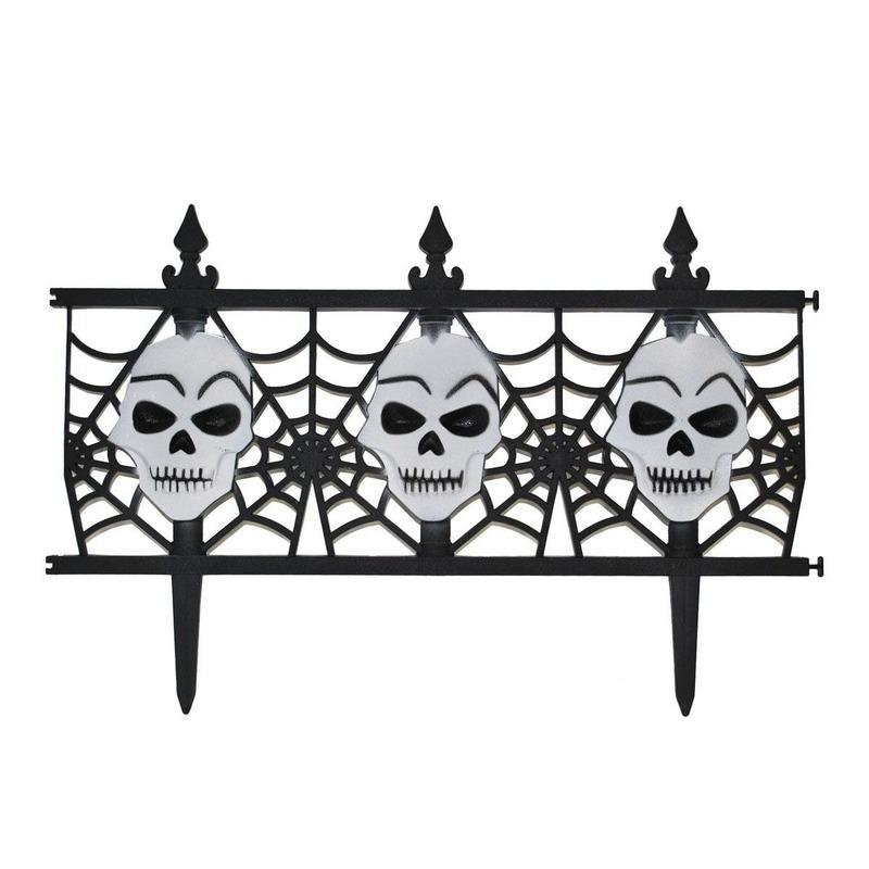 Halloween - Halloween decoratie hekje met schedels