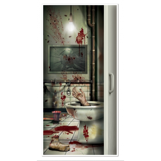 Halloween - Halloween deurposter horror badkamer