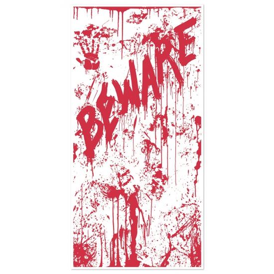 Halloween - Halloween deurposter met bloed