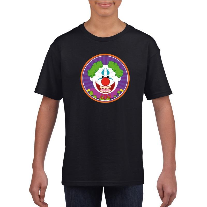 Halloween - Halloween horror clown t-shirt zwart kinderen