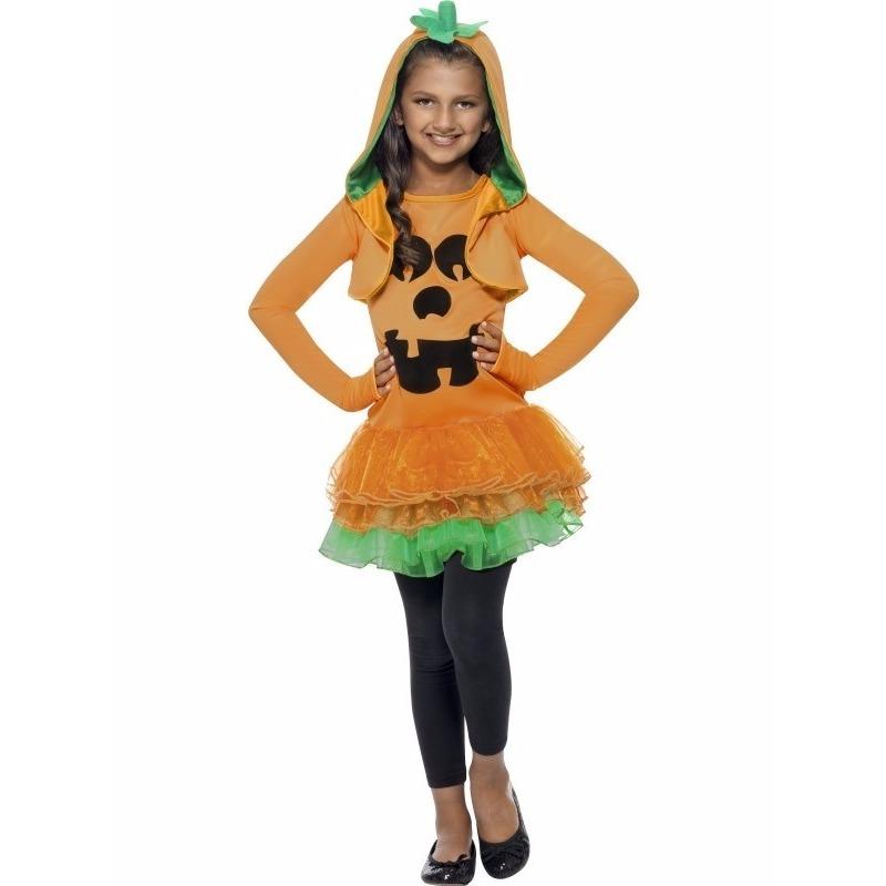 Halloween - Halloween pompoen kostuum voor meisjes