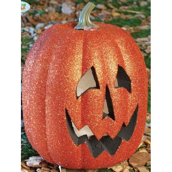 Halloween - Halloween pompoen met licht 25 cm