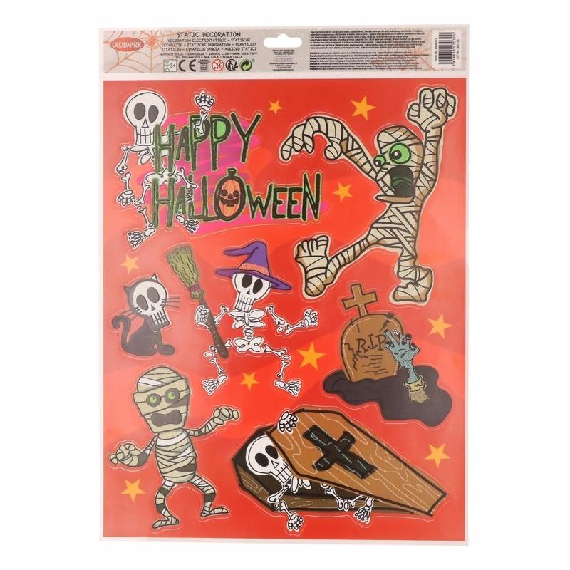 Halloween - Halloween raamdecoratie stickervel oranje