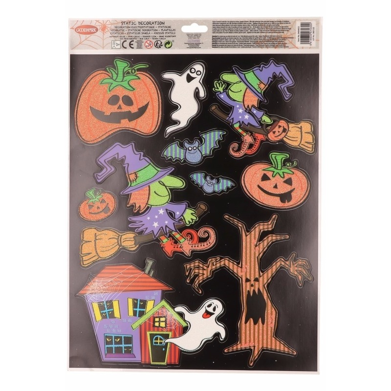 Halloween - Halloween raamdecoratie stickervel zwart