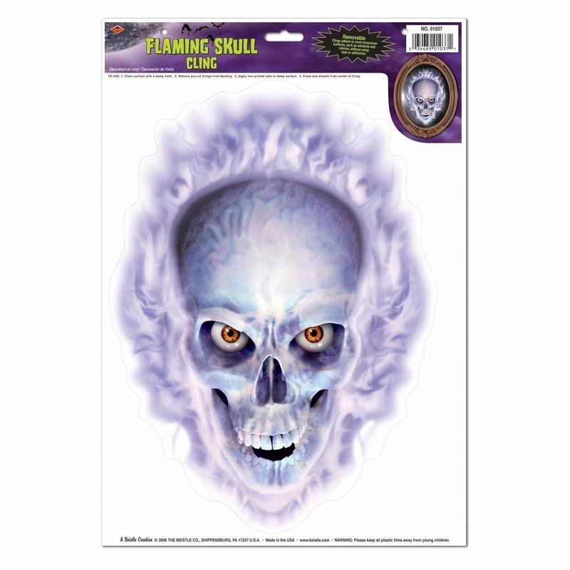 Halloween - Halloween raamsticker doodskop