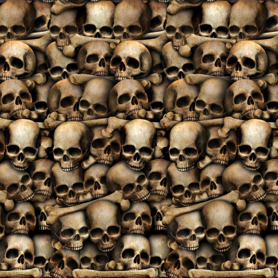 Halloween - Halloween scenensetter schedels