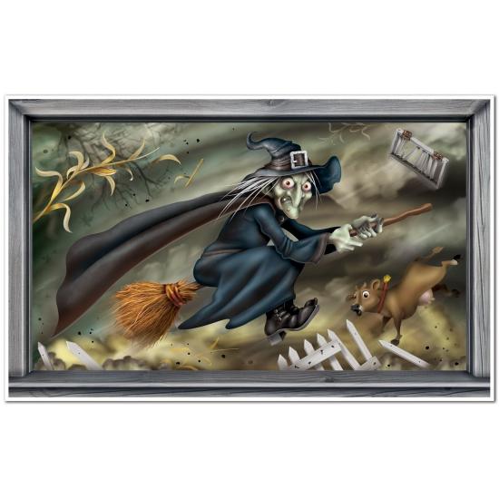 Halloween - Halloween scenesetter vliegende heks