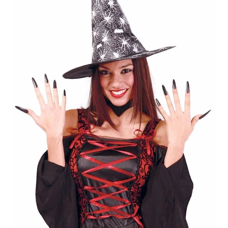 Halloween - Halloween zwarte lange kunstnagels