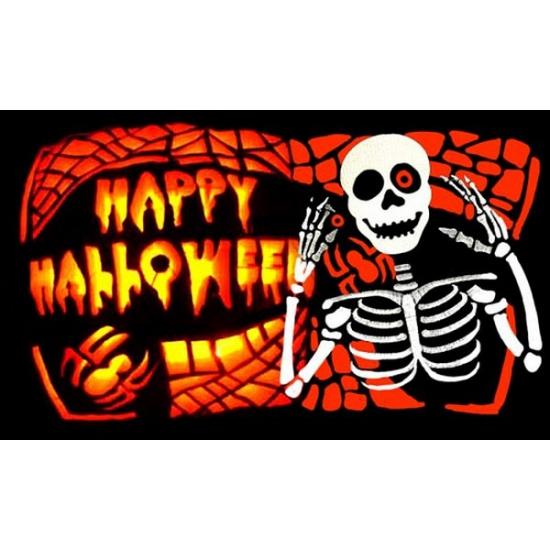 Halloween - Happy Halloween vlag 150 x 90 cm
