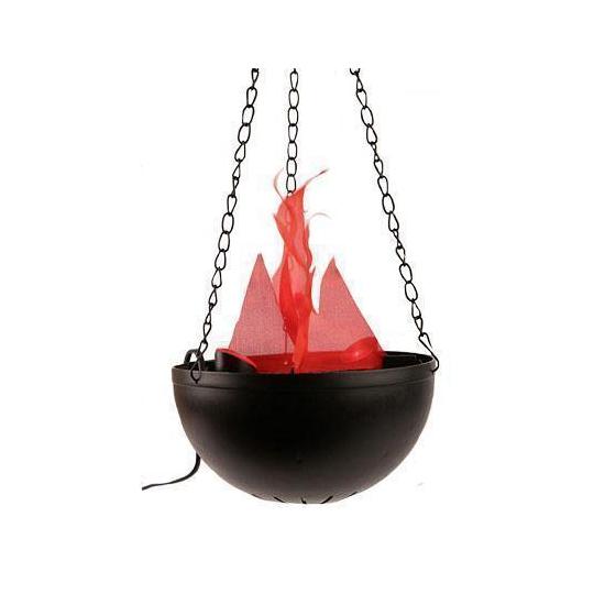 Halloween lamp met flikkerende vlam