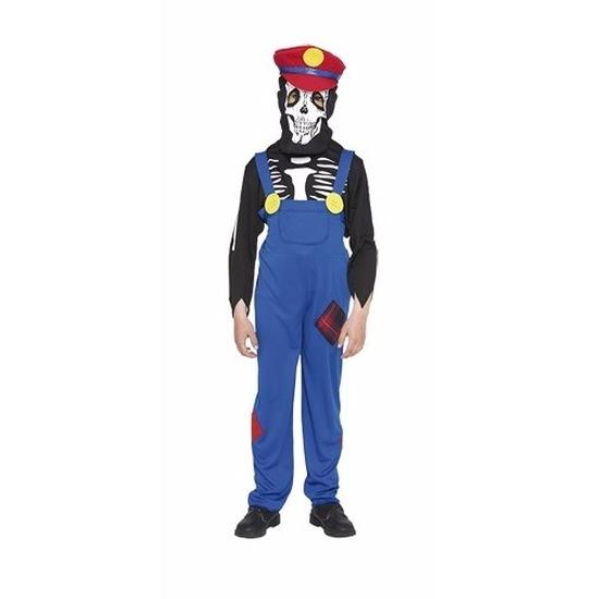Halloween - Loodgieter halloween skelet kostuum voor kinderen