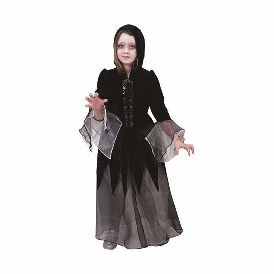 Halloween - Meisjes vampieren jurk zwart -grijs