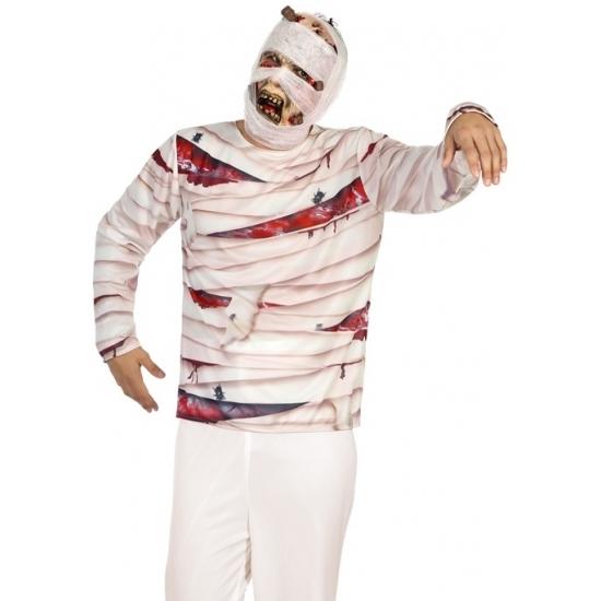 Halloween - Mummie verkleed shirt voor heren