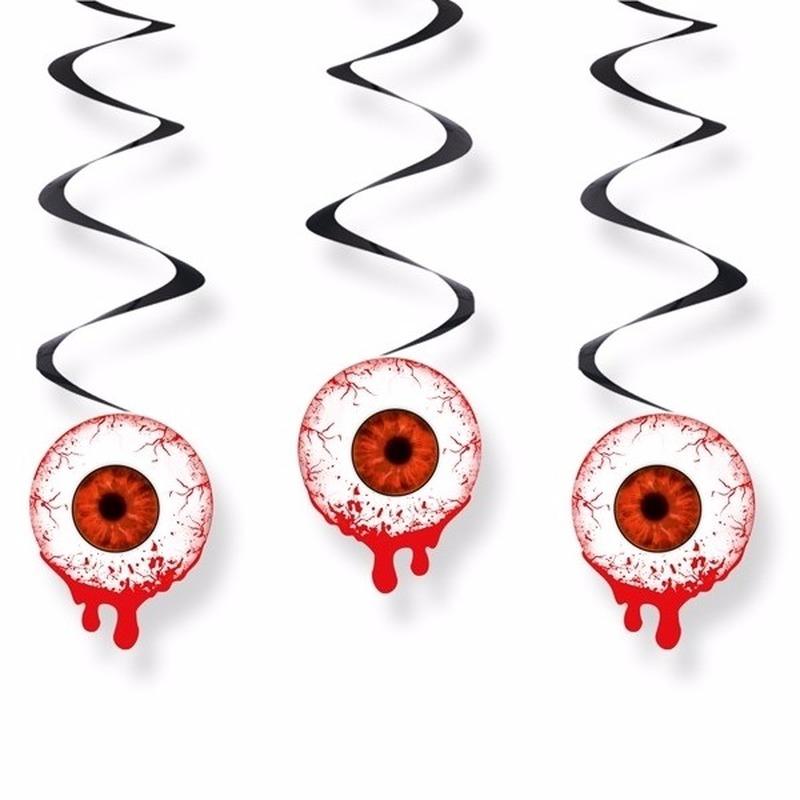 Halloween - Oogbollen hangdecoraties 3 stuks