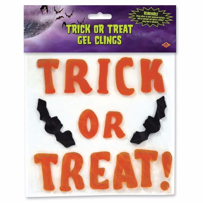 Halloween raamsticker trick or treat