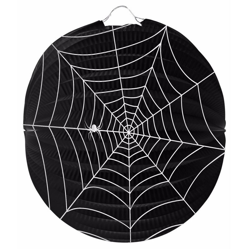 Halloween - Spinnenweb lampion 22 cm halloween versiering