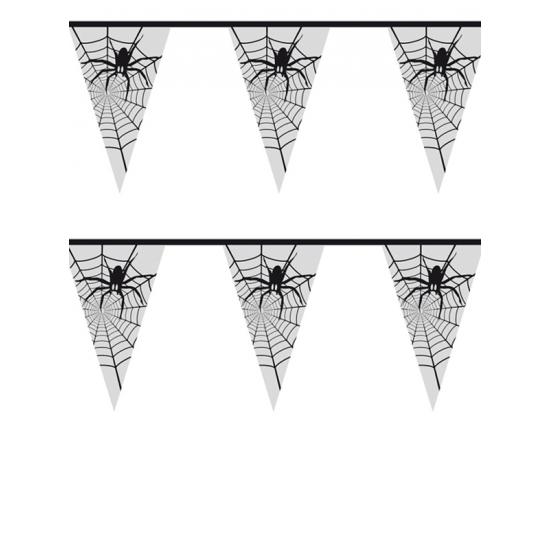 Halloween - Spinnenweb vlaggenlijn 6 meter